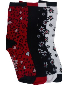 Heartsoul SWEETHEART: Womens 1-3pr Pack Of Crew Socks