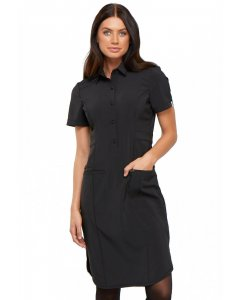 "Cherokee CK510A: Womens Infinity 39"" Button Front Dress"