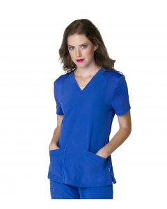 Smitten S101005: Womens Miracle V Neck With Knit Panels