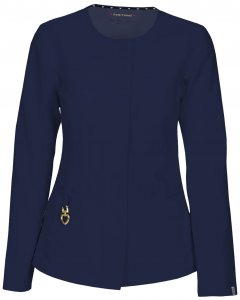 Heartsoul 20601A: Womens Head Over Heels Certainty Antimicrobial 'warm My Heart' Button Front Scrub Jacket