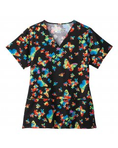 Bio Prints 5441: Womens Shaped V-Neck Top