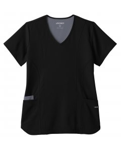 Jockey Scrubs 2334: Womens Contrast Stitch Top