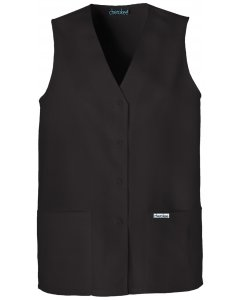 Cherokee 1602: Womens Button Front Vest