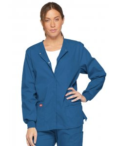 Dickies 86306: Womens Eds Signature Snap Front Warm-Up Scrub Jacket