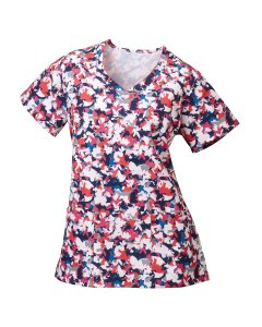 Jockey Scrubs 2472: Womens Printed V-Neck Top