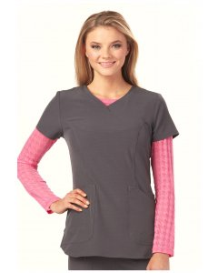 "Heartsoul HS612: Womens ""Heart On Her Sleeve"" Underscrub Tee Scrub Top"
