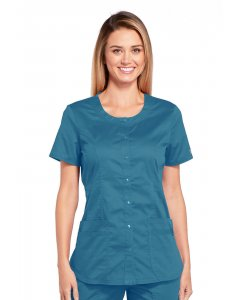 Cherokee Workwear WW683: Womens Cherokee Work Wear Stretch Round Neck Scrub Top